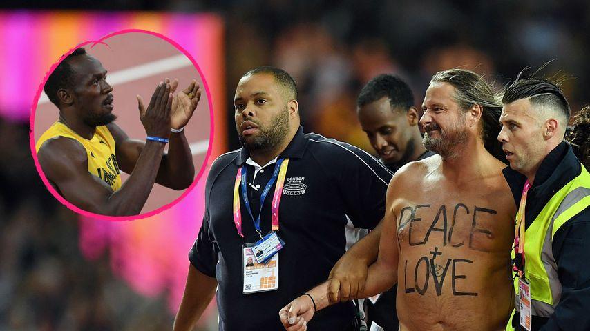 Zum Karriere-Ende: Nackt-Flitzer stiehlt Usain Bolt die Show