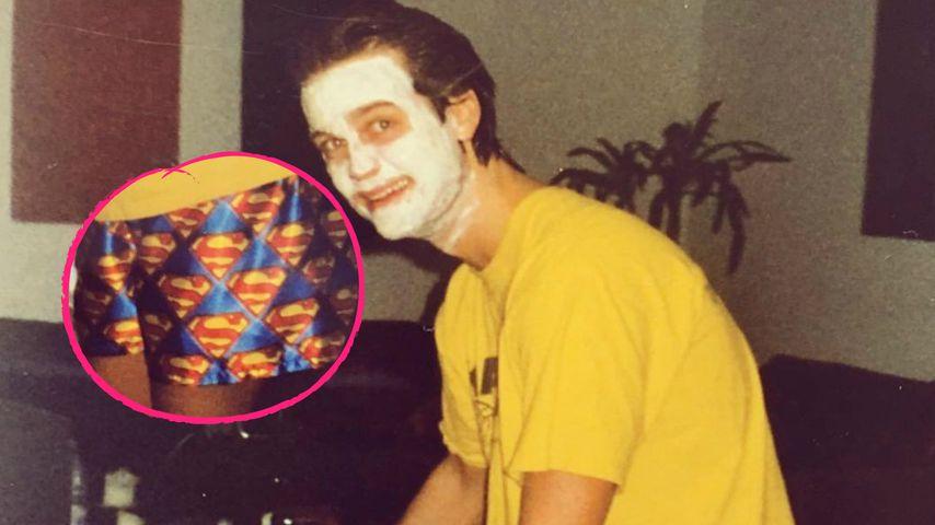 Superman-Unterhose & Maske: Wayne Carpendales Throwback-Pic