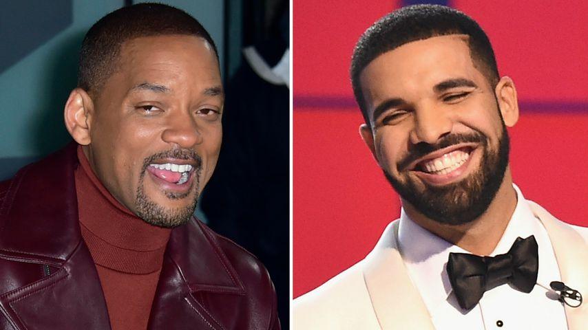 Illegal mit Drone: Will Smith klettert für Drake auf Brücke!