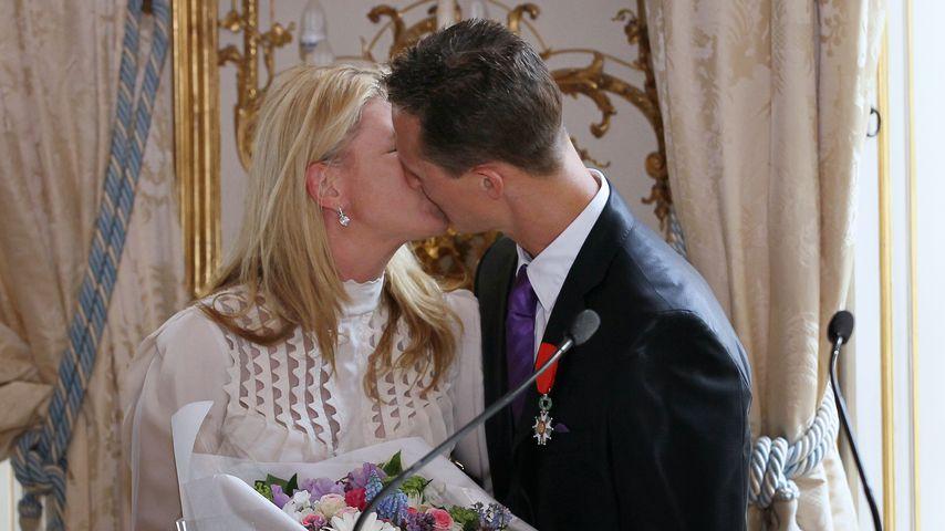 Corinna und Michael Schumacher im April 2010