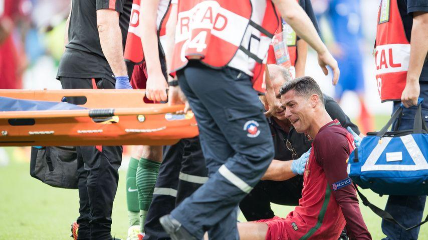 Cristiano Ronaldo bei seiner Auswechslung während des EM-Finales 2016