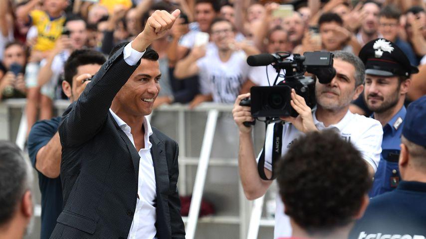 Cristiano Ronaldo vor dem Medizincheck in Turin