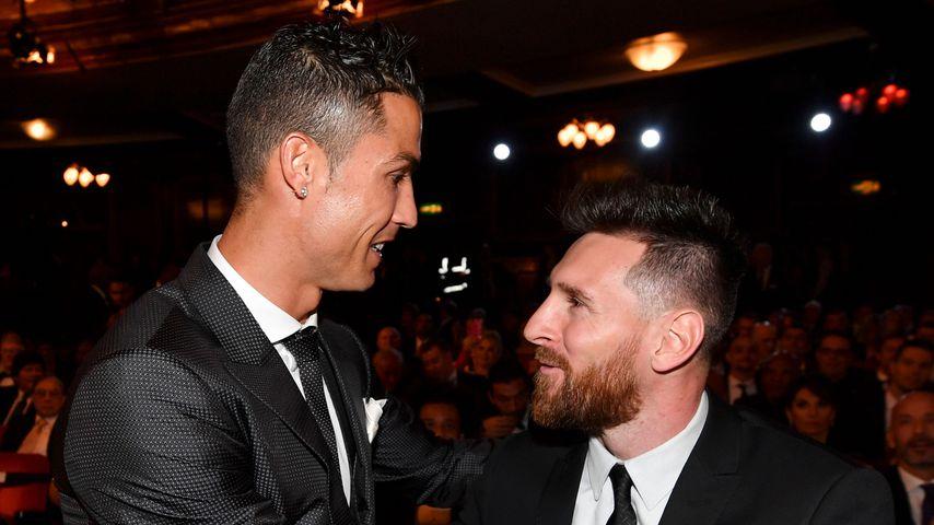 Cristiano Ronaldo und Lionel Messi bei der FIFA-Weltfußballer des Jahres-Wahl 2017 in London