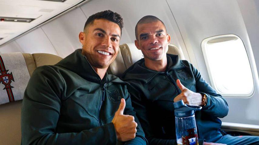 Cristiano Ronaldo und Mannschaftskollege Pepe