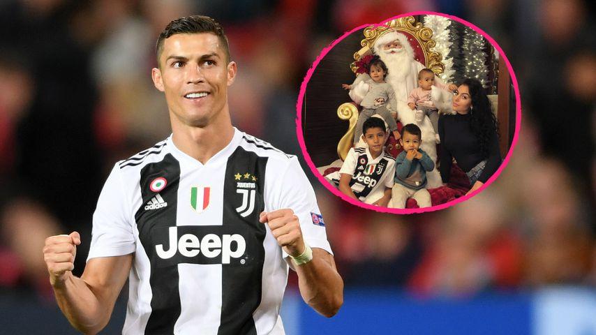 Zuckersüßes Weihnachts-Pic von Cristiano Ronaldos vier Kids!