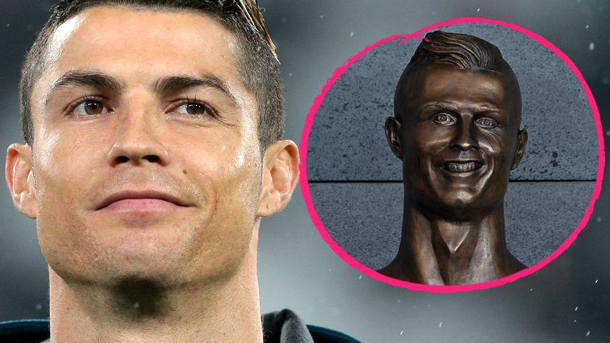 Grusel-Kunstwerk: Ronaldos Airport-Büste wurde ausgetauscht!