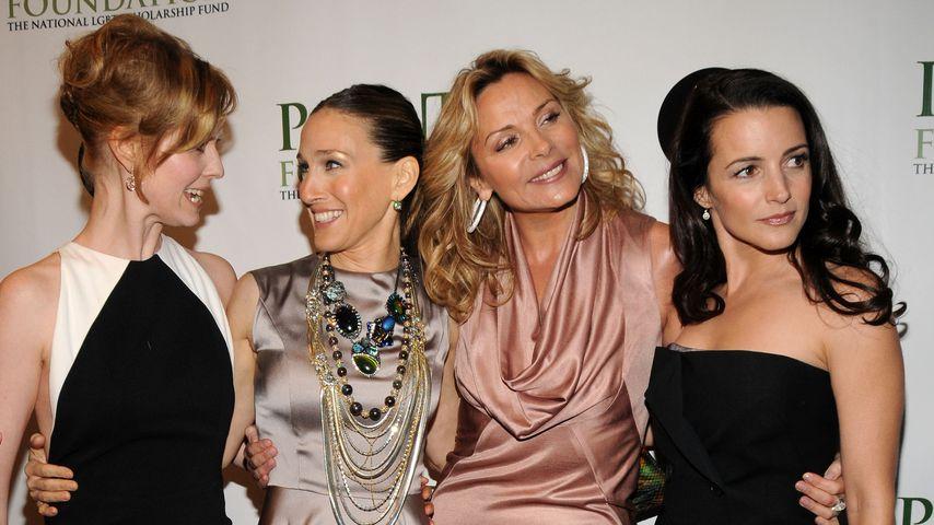 Cynthia Nixon, Sarah Jessica Parker, Kim Cattrall und Kristin Davis bei einer Gala