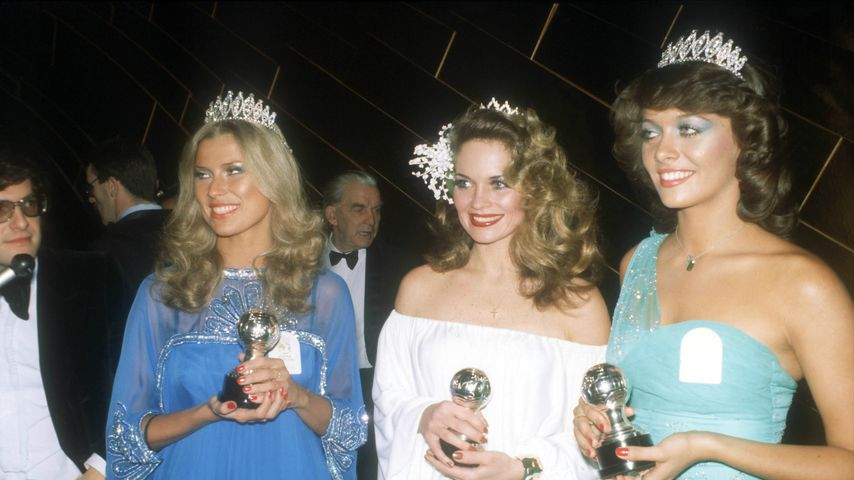 Dagmar Wöhrl (links) bei der Miss World-Wahl 1977