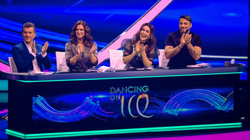 """Dancing on Ice""-Jury mit Daniel Weiss, Katarina Witt, Judith Williams und Cale Kalay"