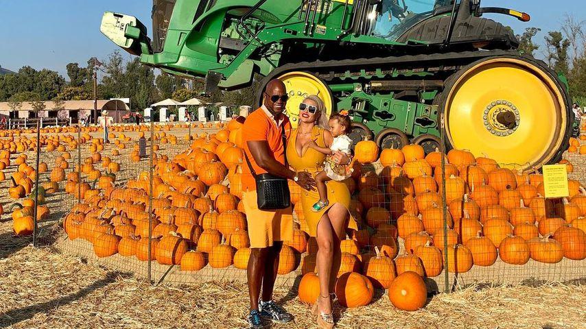 Daniel Charlier und Sophia Vegas mit ihrer Tochter Amanda