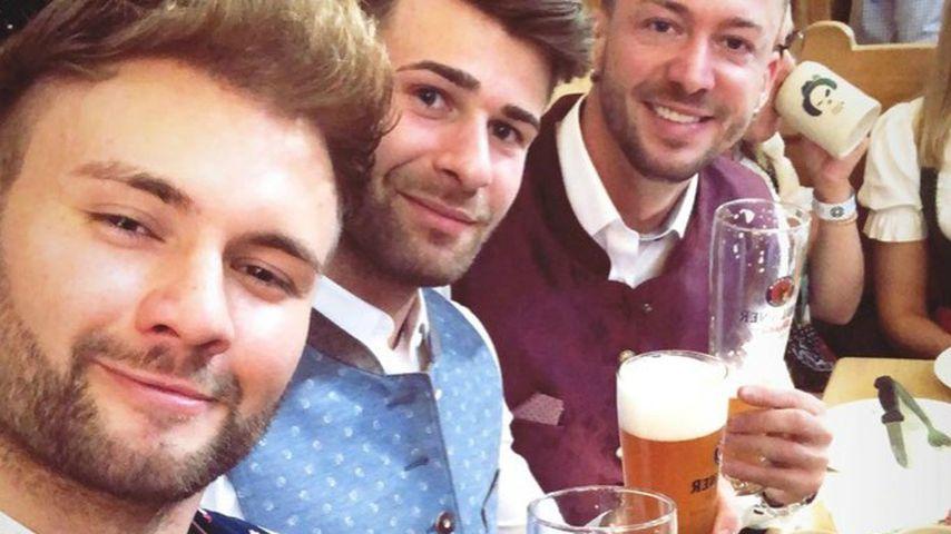 Daniel Lott, Marco Schmidt und Keno Rüst auf dem Oktoberfest 2019