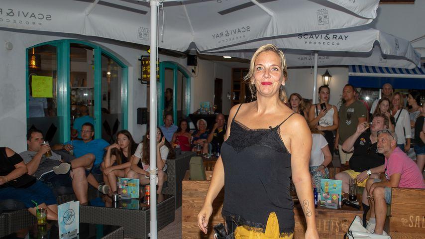 Daniela Büchner beim Public Viewing in der Faneteria