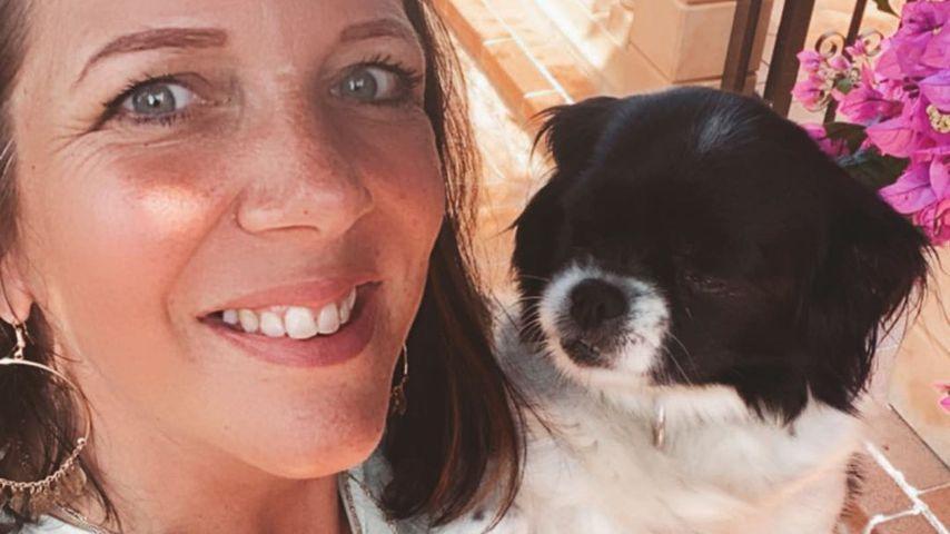 Daniela Büchner mit ihrem Hund, Juni 2020
