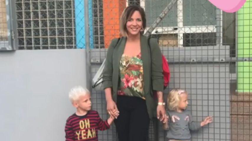 Daniela Büchner mit ihren Zwillingen Diego und Jenna