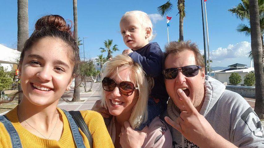 Daniela Büchner mit Jens und zwei ihrer Kinder