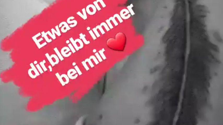 Daniela Büchner mit neuem Tattoo