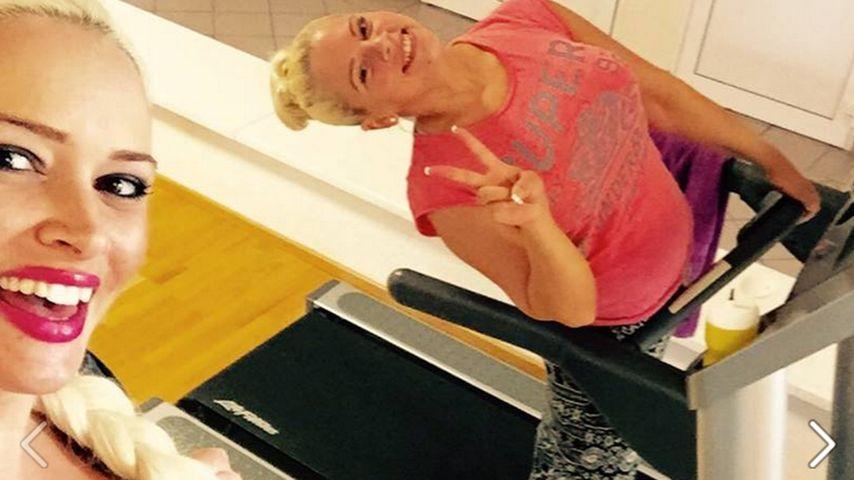 Fit zu dritt! Schwangere Daniela Katzenberger sportelt noch