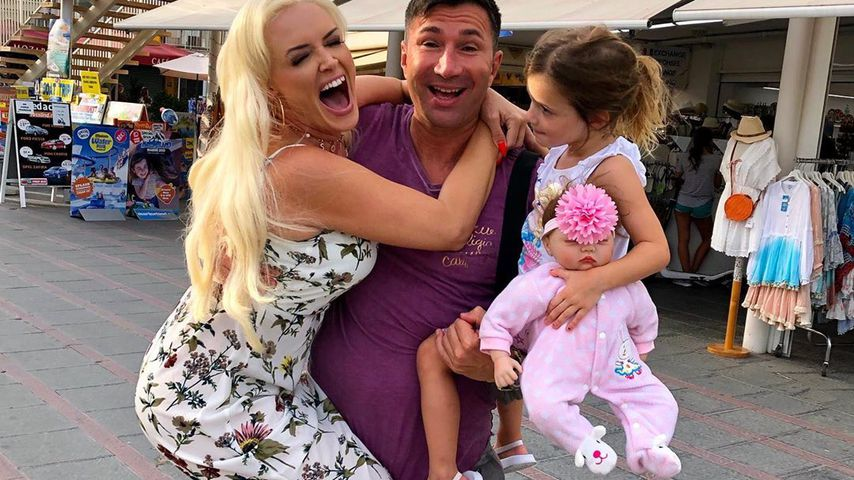 Daniela Katzenberger mit Lucas Cordalis und Tochter Sophia