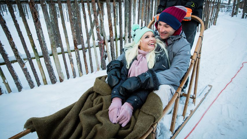 Daniela Katzenberger und Lucas Cordalis in Finnland