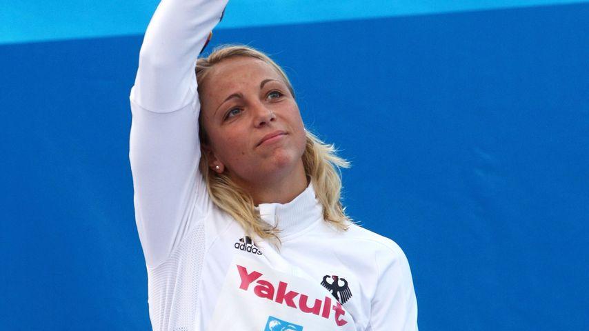 """Daniela Samulski 2009 bei der """"FINA""""-Weltmeisterschaft in Rom"""