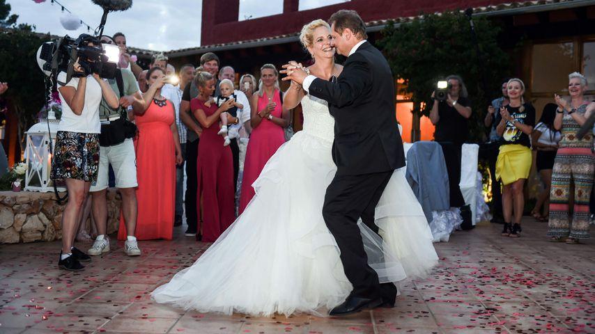 Daniela und Jens Büchner bei ihrem Hochzeits-Tanz