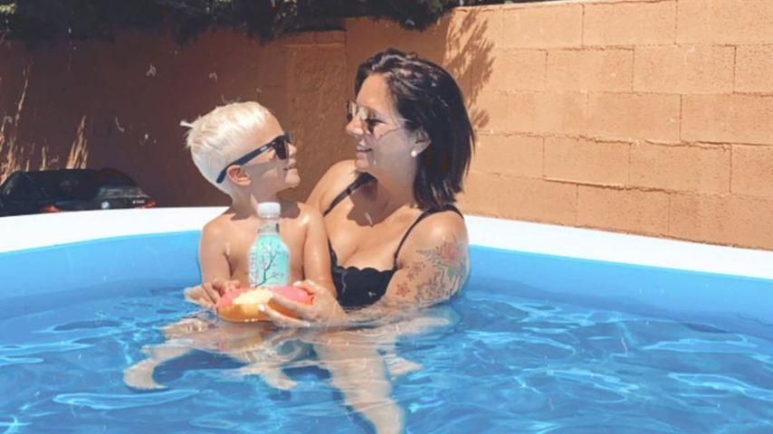 Danni Büchner und ihr Sohn Diego Armani