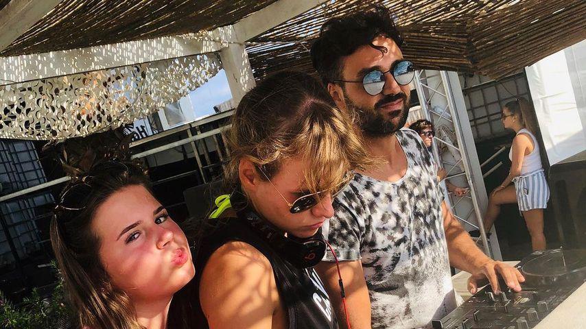 Danny Dyer mit seiner Tochter Sunnie und einer DJane