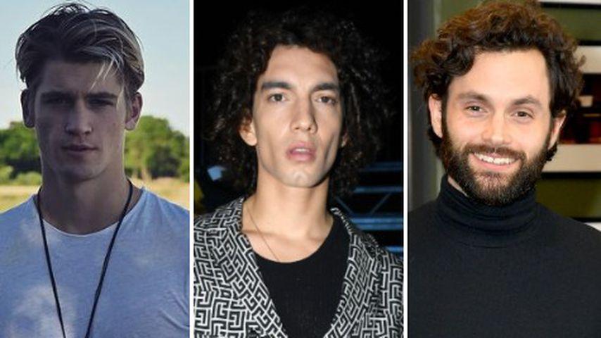 Collage: Die drei Schauspieler Danny Griffin, Jorge López und Penn Badgley