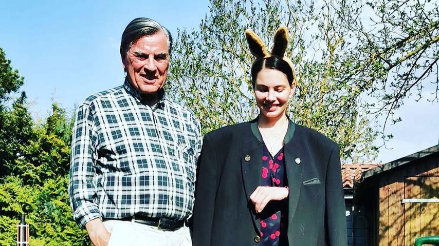 Bruno Michalski mit seiner Tochter Dany, Ostern 2020