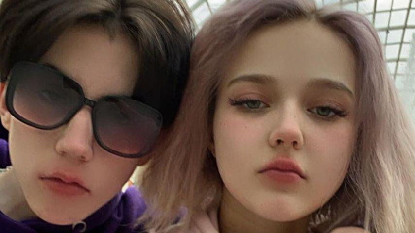Darya Sudnishnikova (r.) mit ihrem Freund Maksim