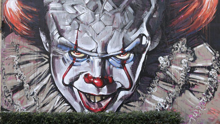 "Das berühmte Clown-Motiv aus Stephen Kings Film ""Es"""
