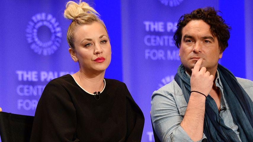 Das ehemalige Paar Kaley Cuoco und Johnny Galecki beim Paleyfest in Hollywood im März 2016