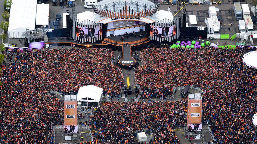 Das Gelände von Koningsdag-Festival in Holland