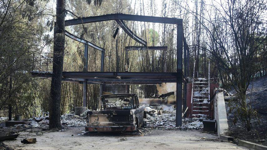 Das Haus von Gerard Butler nach dem Waldbrand in Malibu