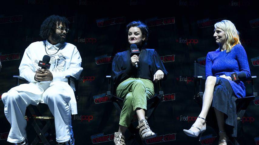 Daveed Diggs, Alison Wright und Mickey Sumner bei der New York Comic Con