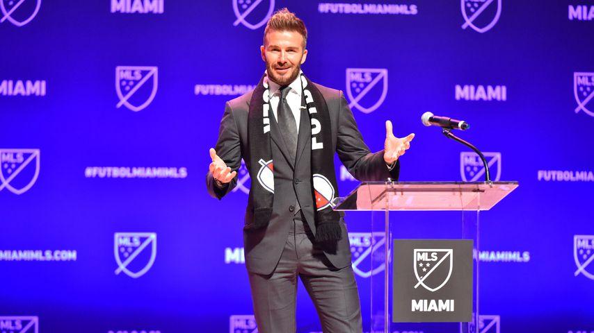 David Beckham bei der Fußballclub-Verkündung in Miami