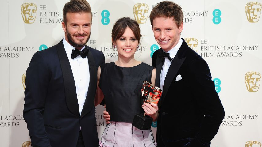 David Beckham, Eddie Redmayne und Felicity Jones