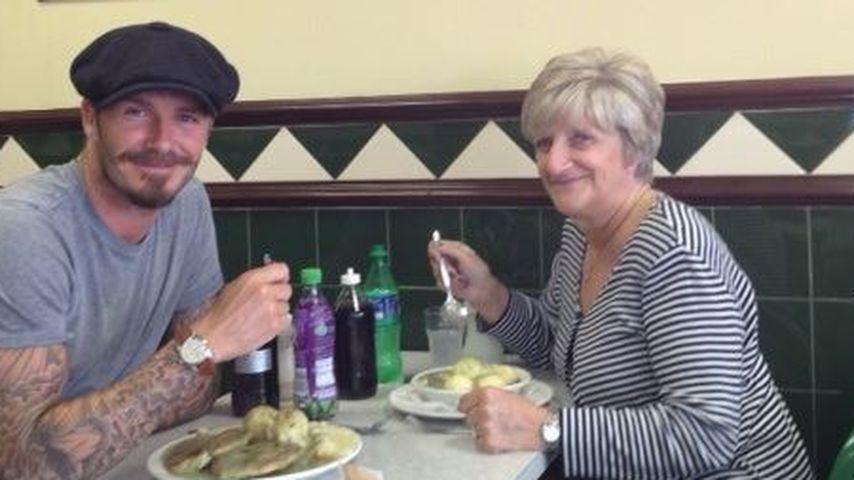 Süß! David Beckham zeigt uns seine Mama