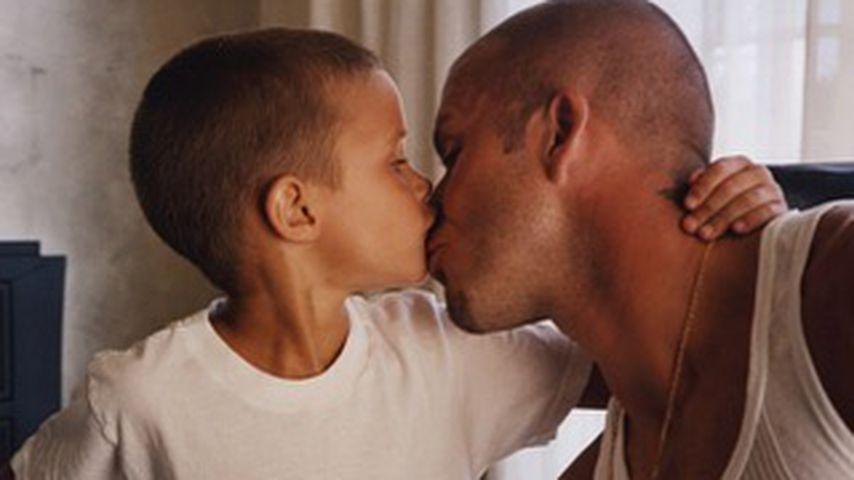 David Beckham mit seinem Sohn Romeo