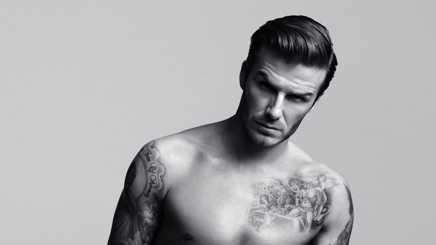 David Beckham bei einem H&M-Fotoshooting im Jahr 2012
