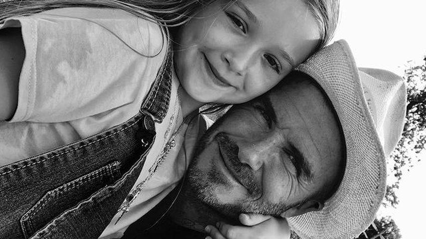 David Beckham (r.) und seine Tochter Harper
