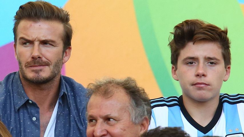 David Beckham und Brooklyn Beckham