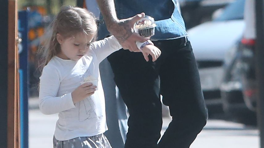 Süßer Nachtisch! David Beckham erfüllt Harper jeden Wunsch