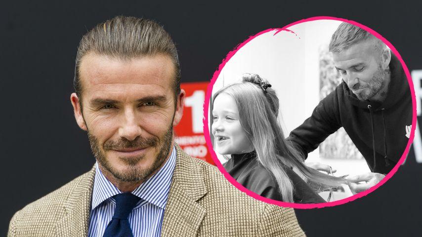 David Beckham: Exklusiver Haarschnitt für Töchterchen Harper