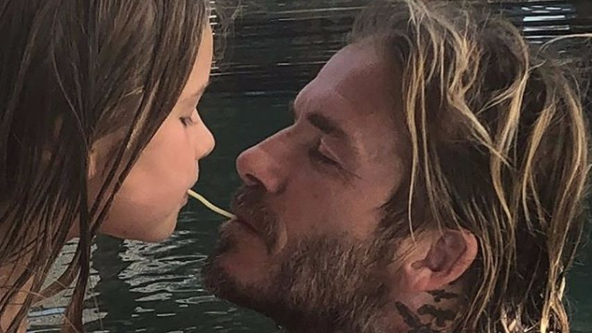 David Beckham und Tochter Harper Seven