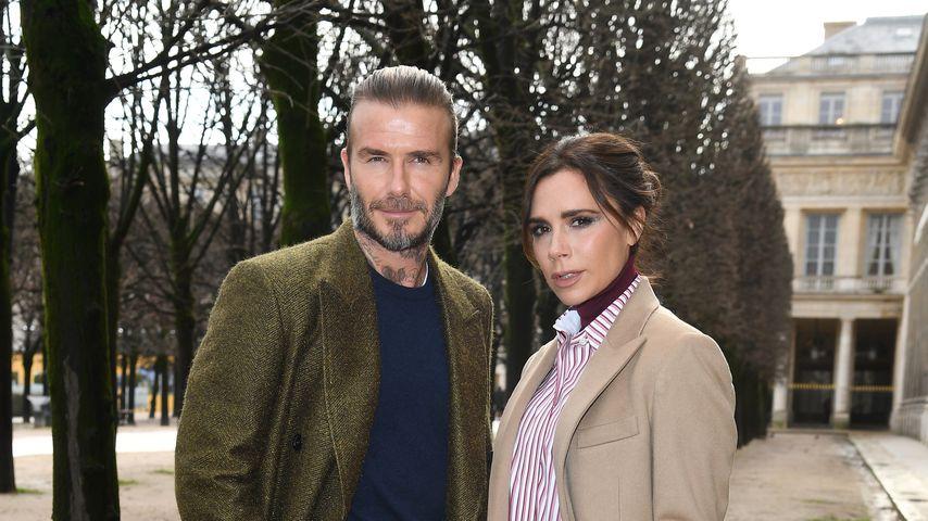 David und Victoria Beckham auf der Paris Fashion Week