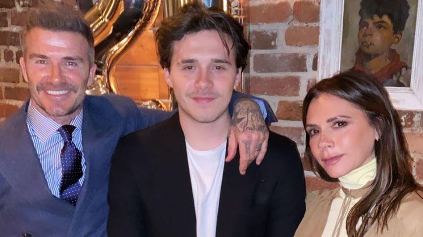 David, Brooklyn und Victoria Beckham