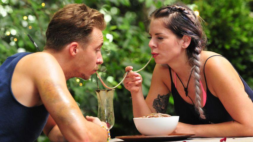 David Friedrich und Jenny Frankhauser im Dschungelcamp 2018