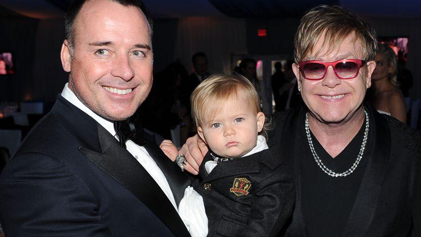 David Furnish, Elton John und ihr Sohn Zachary