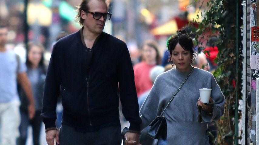 David Harbour und Lily Allen in New York City